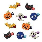 QtGirl 10 PCS Pince à Cheveux Nœud Halloween Déguisement Clips Cheveux Pour Fille Enfant Fillette