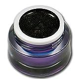 RM Beautynails Premium Metallic UV Farbgel Schwarz Black 5ml UV-Gel Profifarbgel kein absenken der Pigmente sehr hohe Deckkraft