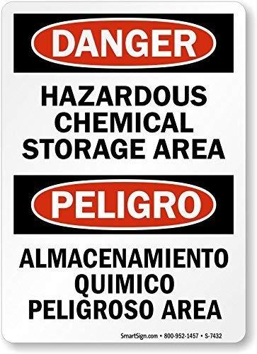 Vivityobert Metal OSHA Panneau Humoristique en Aluminium pour Stockage de Produits Chimiques 300 mm x 200 mm
