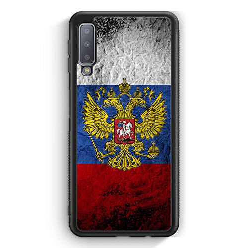 Russland Splash Flagge Russia - Silikon Hülle für Samsung Galaxy A7 (2018) Cover - Motiv Design Russisch - Handyhülle Schutzhülle Case Schale Flagge Cover