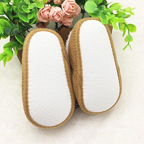 FEITONG Kleinkind Säugling Baby Bowknot Schuhe weiche Sohle Aufladungen Prewalker warme Schuhe (0 ~ 6 Monate, Rosa) Khaki