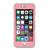 iMusi Accessory for iPhone 5/5s/SE Hybrid Dual Layer Shockproof Scraches Resistent Anti-slip Case Cover Bumper Mobile Phone Protector - Pink/Light Grey
