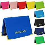 Blue Soft Leather TRAVEL CARD Bus Pass Credit Card ID Card Wallet Cover Case Holder by Kwik Buy