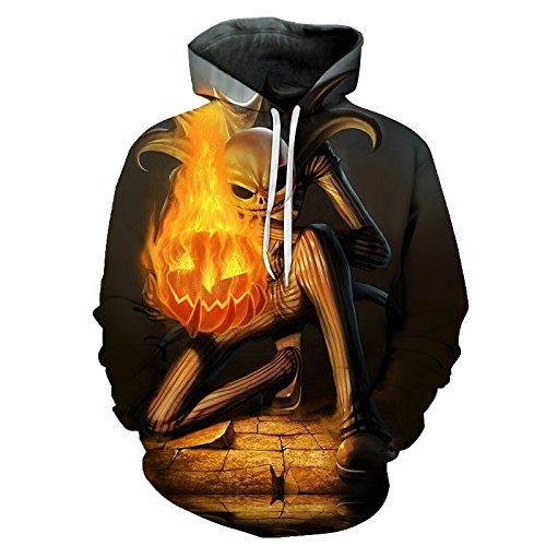 Jack Skellington Feuer Kürbis 3D-Hoodies Sweatshirts Herren Trainingsanzug Drop Shipping Comic Hooded Pullover Hoodie Marke ZOOTOP TRAGEN, HH 021, XXXL