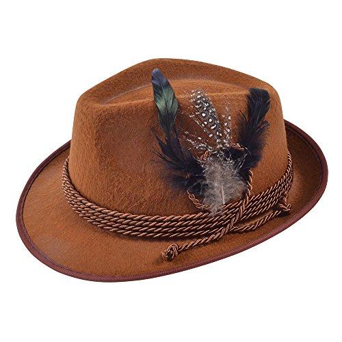 Bristol Novelty bh574Oktoberfest Hat Braun, One size