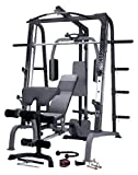 MARCY Luxus Smith-Maschine Heim-Gym mit Hantelbank Kraftstation, Schwarz, One Size