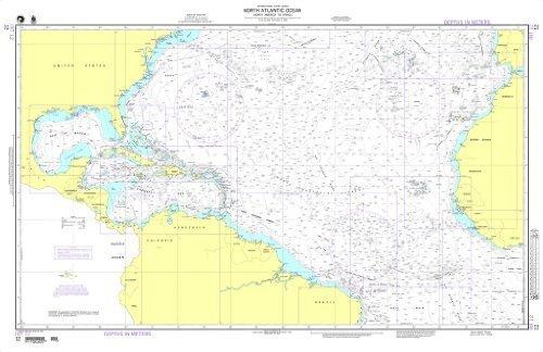 NGA Chart 12: North Atlantic Ocean North America to
