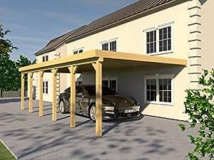 Anlehncarport carport eIFEL vIII 400 x 900 cm-anlehn carport de
