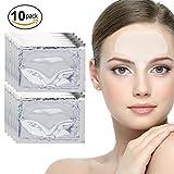 10 x Transparente Kollagen Gel Kristall Stirn Masken Anti Falten Haut Poren Reinigung