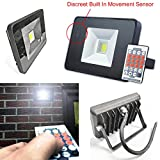 PowerSave® ~ Remote Control ~ Microwave Sensor ~ Slimline ~ Energy Saving LED ~ Security Flood Light ~ 10w Flood Light (100w equivalent)