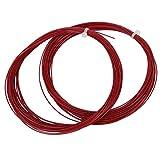 VGEBY1 2 Pezzi di Stringa di Badminton, 10 m di Corda Elastica di Alta Badminton Durevole Linea di Badminton con buona Resistenza per Racchette da Badminton(Rosso)