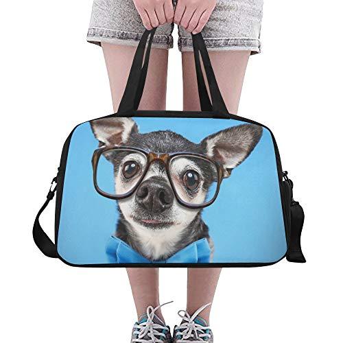 (Plosds Nette Chihuahua Hund Tier Große Yoga Gym Totes Fitness Handtaschen Reise Seesäcke Schultergurt Schuhbeutel Für Übung Sport Gepäck Für Mädchen Männer Frauen Outdoor)