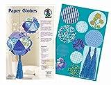 Ursus 23030099 - Paper Globes Bastelset, 120 Papierkreise, 2 Troddeln mit Kordel, sapphire