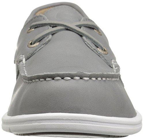 Sebago Mens Liteside Two Eye Boat Shoe Grey Leather