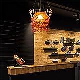 basket lustre américain créatif chambre chambre lustre rétro bar magasin de sport de table luminaires personnalité enfants...