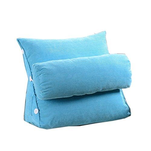 Dossier De Chevet Coussin de canapé à triangle moderne Design ergonomique avec coussin de tête amovible Coussin de chevet Coussin de dossier à lame à rebours lent à lame 45 * 45cm (Couleur : A)
