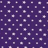 Unbekannt Jersey farbige Sterne lila — Meterware ab 0,5 m