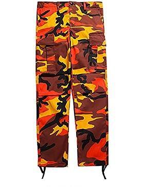 Hibote Camo Cargo Pantalones para hombre para mujer Baggy Tactical Hip Hop Streetwear Pants