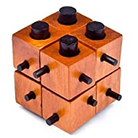 Puzzle Game Montessori Educational Magic Box Of 8 parts For Adult And Children Wooden Toys Of Kong Ming Lock