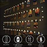 Opard LED Fotoclips Lichterkette, 6M/40 LED Foto Lichterkette Batteriebetriebene Clip Bilder Lichterketten Bilderrahmen Dekoration für Wohnzimmer, Weihnachten, Hochzeiten, Party (Warmweiß)