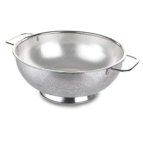 Bis Sieb Teesieb-5-quart Edelstahl Küche Spaghetti Teesieb mit rutschfester Griff stabile Unterlage-mikroperforierten ungiftig Spülmaschinenfest Metall Abtropfgestell für Nudeln Früchte Gemüse 5 Quart Colander