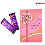 Archies Rakhi Card With Roli Tilak And Dairy Milk Chocolate