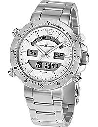 Jacques Lemans Unisex-Armbanduhr Milano Analog - Digital Edelstahl 1-1713D
