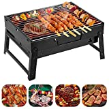 ZDXR Barbecue Portable BBQ Barbecue à Charbon en Acier Inoxydable Pliable Four...