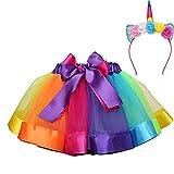 MMTX Mädchen Regenbogen Layered Rock Rüschen Tiered Tüll Tutu Kostüm Layered