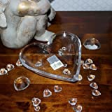Glass Heart Dish By Gisela Graham