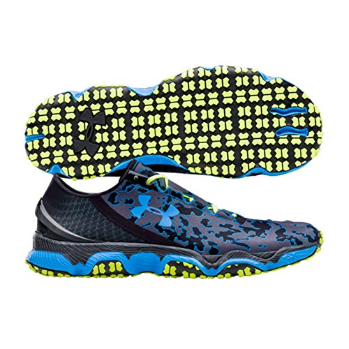 UNDER ARMOUR UA SpeedForm XC Scarpa da Trail Running Uomo, Nero/Blu/Giallo, 42.5