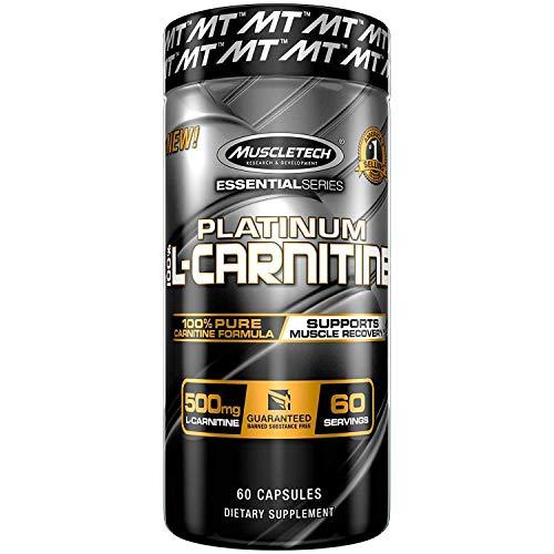 Muscletech Essential Series Platinum 100% L-Carnitine Standard - 180 Cápsulas