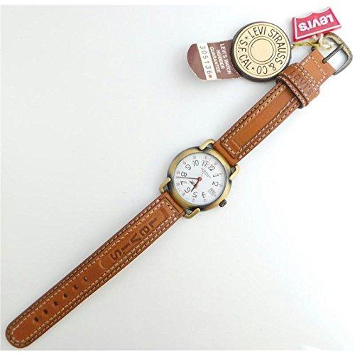 Uhr Levi 's Strauss Damen 305136Quarz (Batterie) Stahl Quandrante weiß Armband Leder
