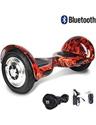 """Cool&Fun Hoverboard Patinete Eléctrico Scooter Monopatín Eléctrico Auto-equilibrio Patín de 10"""" From SHOP GYROGEEK 350X2W (Fire)"""