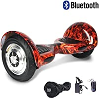 "Cool&Fun Hoverboard Patinete Eléctrico Scooter Monopatín Eléctrico Auto-equilibrio Patín de 10"" From SHOP GYROGEEK 350X2W (Fire)"