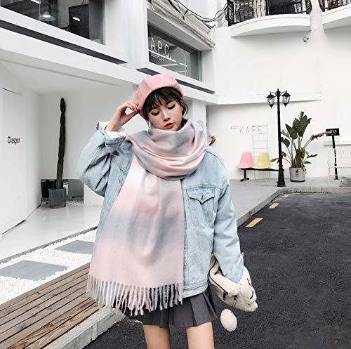 Lxj Écharpe Femme Automne Hiver centaines Long châle Coton Chanvre Pure Color étudiants Simples tricotés Cou 200 * 73cm