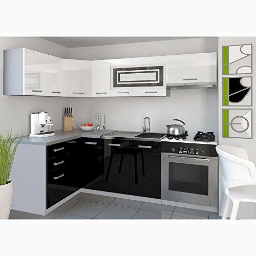 JUSThome Lidja P L-Küche Küchenzeile Küchenblock 130×230 cm Länge große Farbauswahl
