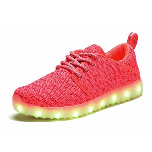 COODO ,  Mädchen Sneaker Low-Tops Korallenrot