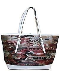 #510 Damen Designer Handtasche Damentasche Shopper Patchwork Ethno Look