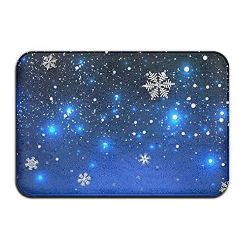 Miedhki Snowflake Personalized Furnishing Scatter Super Absorbent Point Plastic Anti-Slip Base 23.6x15.7 inch Easy Clean Door Mats Rectangular Paillasson