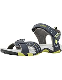 Lotto Men's Grey Lime Sandals and Floaters
