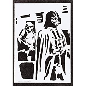 Darth Vader STAR WARS Poster Plakat Handmade Graffiti Street Art – Artwork