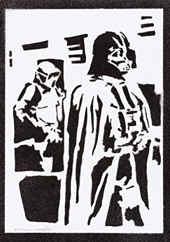 Darth Vader STAR WARS Poster Plakat Handmade Graffiti Street Art - (Comic Buch Figur Kostüm Einfach)