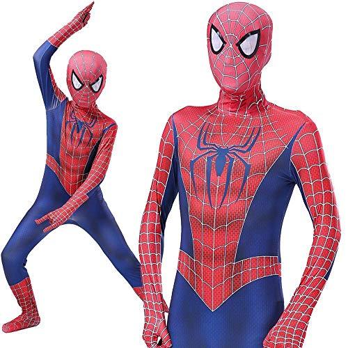 QAZ Erwachsene Kinder Spider-Man Halloween Kostüm Overall 3D Remitoni Spiderman - Cosplay Bodysuit Spiderman Costume,180cm