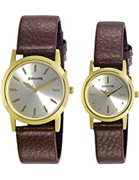 Sonata Analog Gold Dial Men's Watch-NK71178137YL01