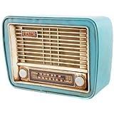 ELEMENTO DECORATIVO RADIO VINTAGE. TAMAÑO 23 X 8 X 17 CM. DOS MODELO (AZUL)
