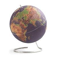 SUCK UK-Large Coloured Desktop Cork Globe | Push PINS Included | Educational World MAP | Travel Accessories | Adventure & Memories Display, Multicolour