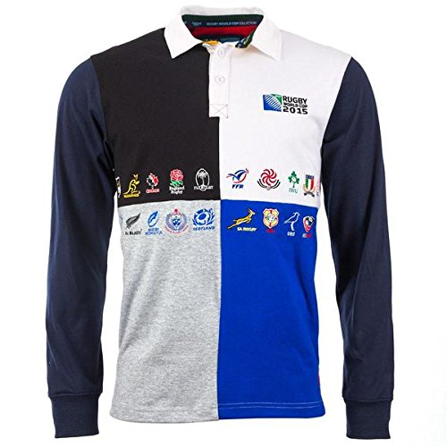 Canterbury Rugby World Cup Jungen 20 Nation Harlequin Rugby Polo Shirt Jersey Navy (14-15 Jahre)