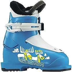 Salomon Niños Botas de esquí T12016Youth, color azul claro, tamaño 16