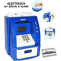 Preisvergleich für alles-meine.de GmbH Elektrische Spardose - Geldautomat - Blau - mit Sound + Pin Geldkarte + SP..
